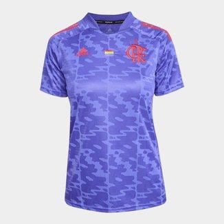 Camisa Flamengo Pride 21/22 s/n° Torcedor Adidas Feminina