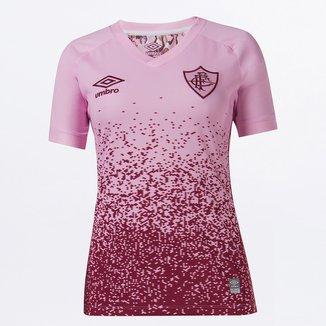 Camisa Fluminense Outubro Rosa 21/22 s/n° Torcedor Umbro Feminina