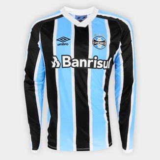 Camisa Grêmio I 21/22 s/nº Torcedor Umbro Manga Longa Masculina