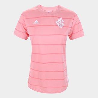 Camisa Internacional Outubro Rosa 21/22 s/n° Torcedor Adidas Feminina