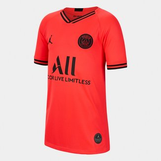 Camisa Jordan Paris Saint-Germain Juvenil Away 19/20 s/n° Torcedor Nike