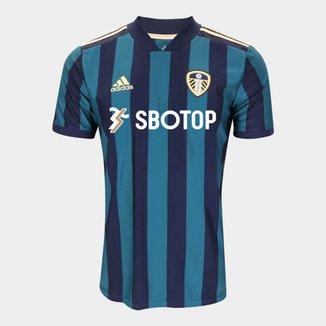 Camisa Leeds United Away 20/21 s/n° c/ Patrocínio Torcedor Adidas Masculina