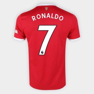 Camisa Manchester United Home 21/22 Ronaldo n°7 Torcedor Adidas Masculina