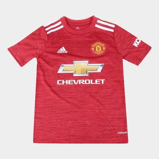 Camisa Manchester United Juvenil Home 20/21 s/n° Torcedor Adidas