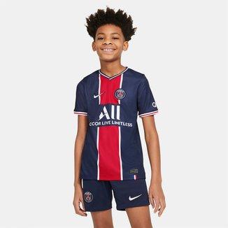 Camisa Paris Saint-Germain Infantil Home 20/21 s/n° Torcedor Nike