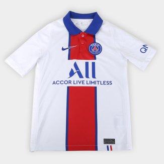 Camisa Paris Saint-Germain Juvenil Away 20/21 s/n° Torcedor Nike