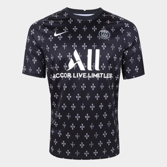 Camisa Paris Saint-Germain Pré Jogo 21/22 Nike Masculina