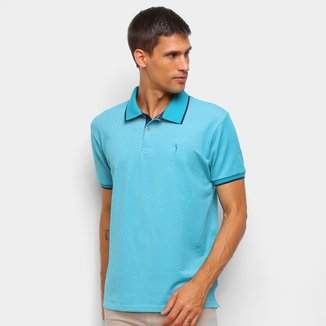 Camisa Polo Aleatory Detalhe Borda Masculina