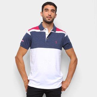 Camisa Polo Aleatory Fio Tinto Bicolor Masculina