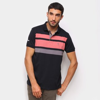 Camisa Polo Aleatory Fio Tinto Color Block Masculina