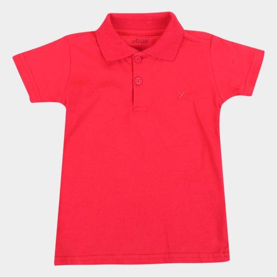 Camisa Polo Bebê Elian Básica Masculina - Vermelho