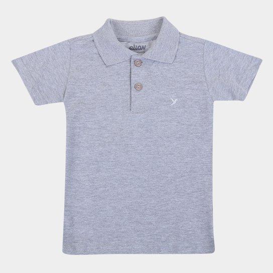 Camisa Polo Bebê Elian Básica Masculina - Mescla