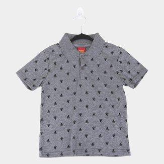 Camisa Polo Bebê Kyly Malha Estampada Masculina