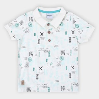 Camisa Polo Bebê Rovitex Coqueiros Masculina