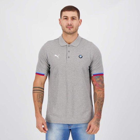 Camisa Polo BMW MMS Masculina - Cinza