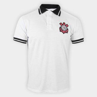 Camisa Polo Corinthians Piquet Stripe Masculina