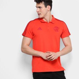 Camisa Polo Flamengo Adidas 3 Stripes Masculina