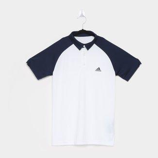 Camisa Polo Infantil Adidas Raglan Club Masculina