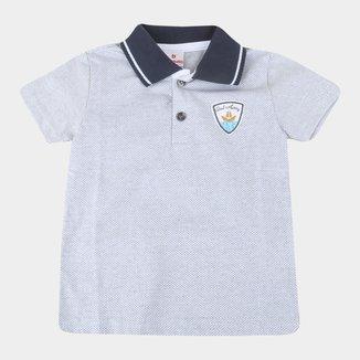 Camisa Polo Infantil Brandili Manga Curta Masculina