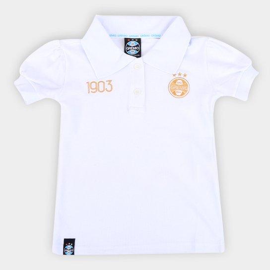 Camisa Polo Infantil Grêmio 1903 - Branco