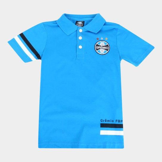 Camisa Polo Infantil Grêmio Masculina - Azul