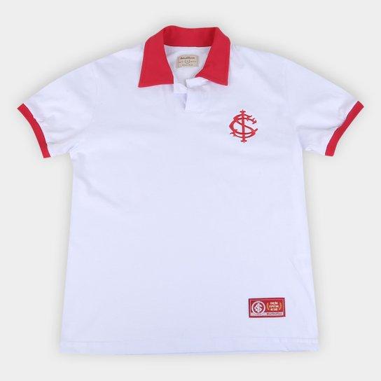 Camisa Polo Infantil Internacional Retrô Mania - Branco+Vermelho
