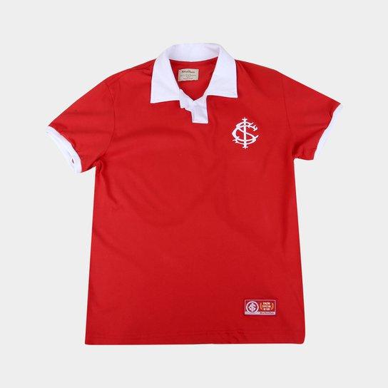 Camisa Polo Infantil Internacional Retrô Mania - Vermelho+Branco