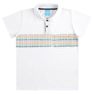 Camisa Polo Infantil Kamylus Manga Curta Masculina