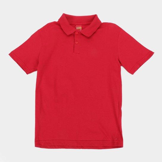 Camisa Polo Infantil Kyly Básica Masculina - Vermelho