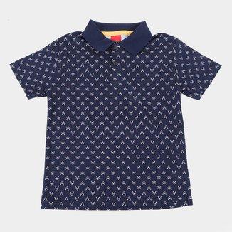 Camisa Polo Infantil Kyly Estampada Masculina
