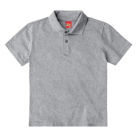 Camisa Polo Infantil Kyly Lisa Masculina - Mescla
