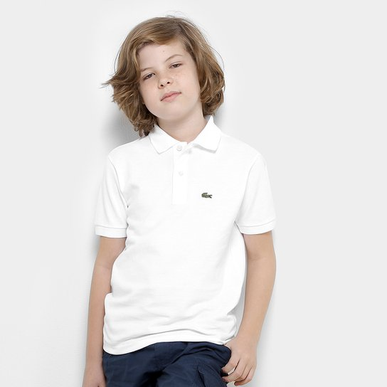 Camisa Polo Infantil Lacoste Masculina - Branco