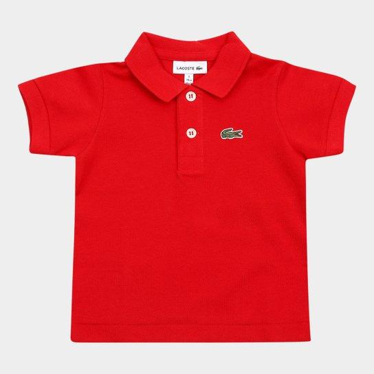 Camisa Polo Infantil Lacoste Masculina - Vermelho