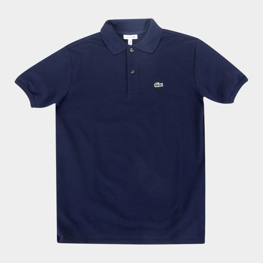 Camisa Polo Infantil Lacoste Masculina - Azul+Marinho