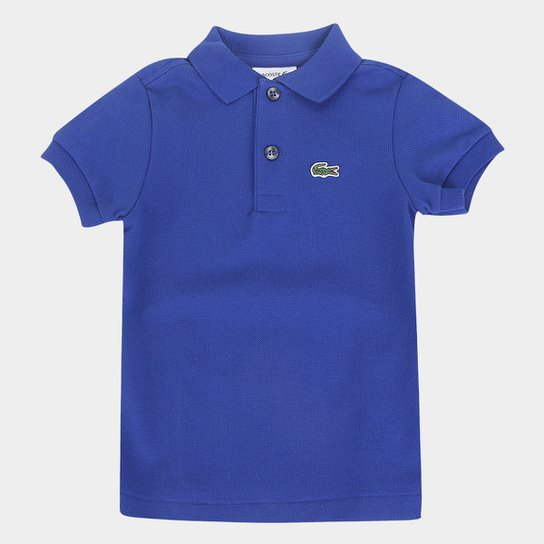 Camisa Polo Infantil Lacoste Masculina - Marinho+Azul