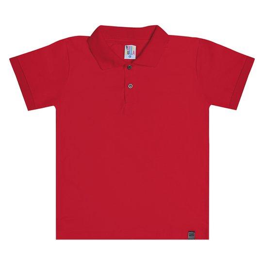 Camisa Polo Infantil Pulla Bulla Básica Masculina - Vermelho