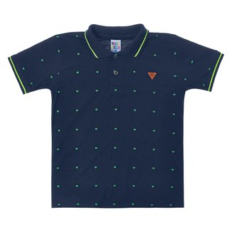 Camisa Polo Infantil Pulla Bulla Estampada Masculina