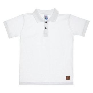 Camisa Polo Infantil Pulla Bulla Lisa Masculina