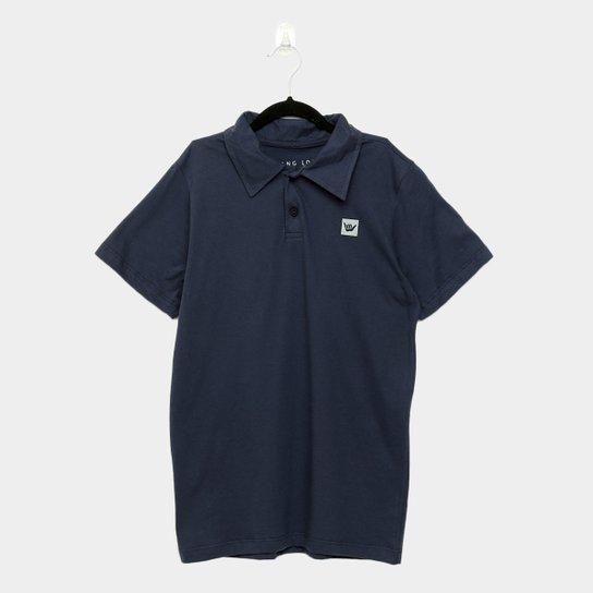 Camisa Polo Juvenil Hang Loose Classic Masculina - Marinho