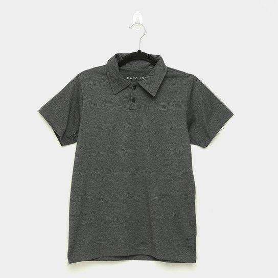 Camisa Polo Juvenil Hang Loose Classic Masculina - Preto+Chumbo