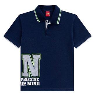Camisa Polo Juvenil Kyly Malha On Paradise Masculina
