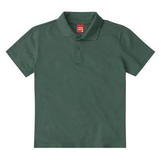 Camisa Polo Juvenil Kyly Meia Malha Básica Masculina