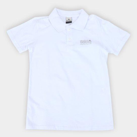 Camisa Polo Juvenil Nicoboco Lisa Masculina - Branco
