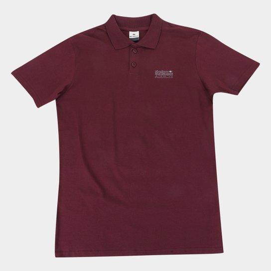 Camisa Polo Juvenil Nicoboco Lisa Masculina - Vinho