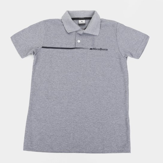 Camisa Polo Juvenil Nicoboco Pack Masculina - Marinho