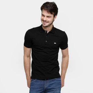 Camisa Polo Lacoste Piquet Slim Masculina