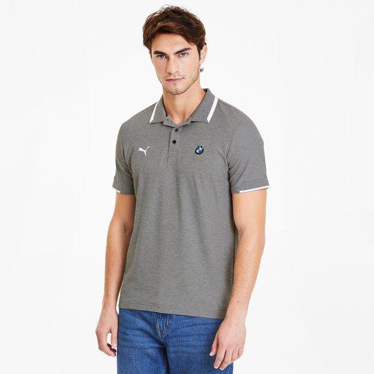 Camisa Polo Puma BMW MMS Masculina - Cinza