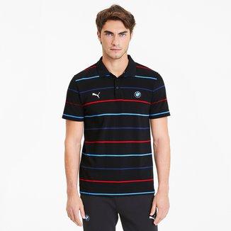 Camisa Polo Puma BMW MMS Striped Masculina