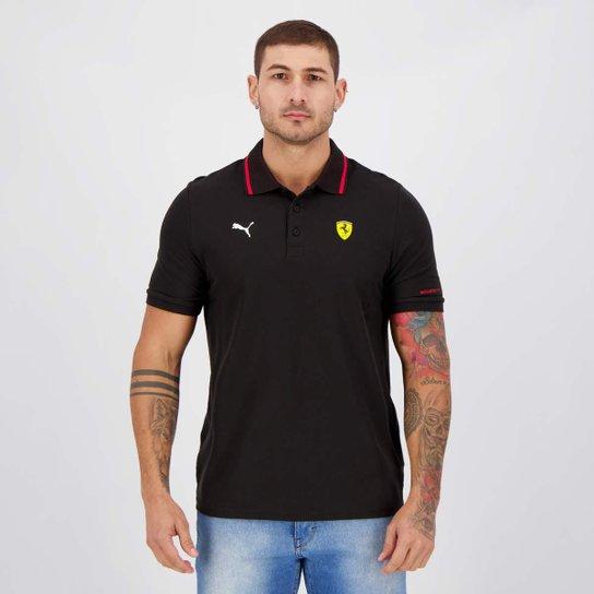 Camisa Polo Puma Ferrari Race Masculina - Preto