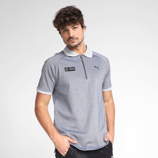 Camisa Polo Puma MAPF1 2-Tone Masculina - Prata